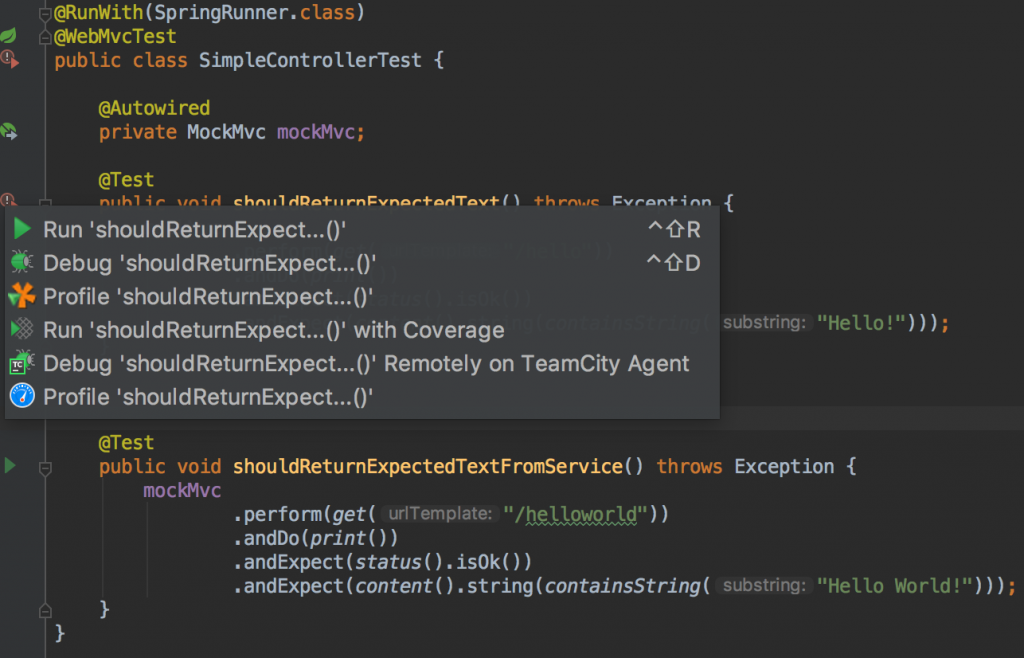 How to run tests with IntelliJ